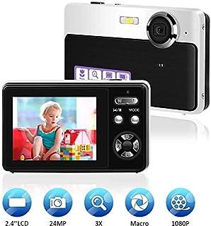 Compactas Cámaras Digitales Camara de Fotos 24MP LCD TFT de 24 Pulgadas Videocamaras Cámara Compacta y Portátil para Selfies