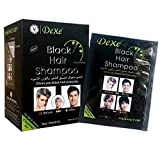 10 PCS Dexe Black Hair Shampoo Instant Hair Dye for Men Women Black Color - Simple to Use -...