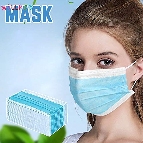aillvend 100pcs thick disposable anti-dust face mask with earloop