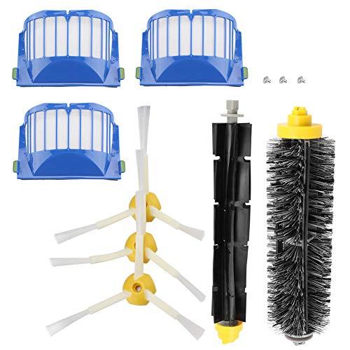 Fdit Kit de Accesorios de Repuesto Cepillo de cerdas para la Serie IROBOT Roomba 600