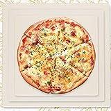 YIGEYI Piedra para Pizza La Pizza de Piedra panificadora Piedra cordierita de Pizza La Parrilla de Piedra de la Parrilla del Horno, Pizza Pan de Horno y Parrilla, 30 x 30cm (Size : 25 * 25CM)