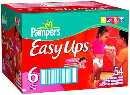 Pampers Easy Ups Absorbent New products world's San Diego Mall highest quality popular Pants 54-Count for Size Girls 6