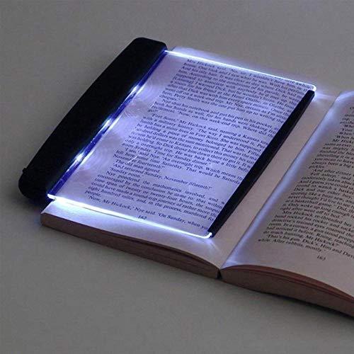 Luz para leer 2PS Placa plana LED Libro Luz portátil Protección para los ojos Lectura Lámpara de noche Regalo Novela y diseño elegante Proyector extensivo