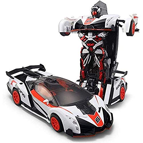 Find Bargain Woote Child Deformable Remote Car 1:12 Scale RC Remote 4WD Drifting Vehicles One Touch ...