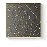Golden Angel Mouth Tree Geometric Square Texture Canvas Painting Poster Sala de estar Decoración de la pared 40x40cm