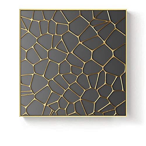 Golden Angel Bocca Albero Geometrica Texture Quadrata Tela Pittura Poster Soggiorno Decorazione murale 40x40cm