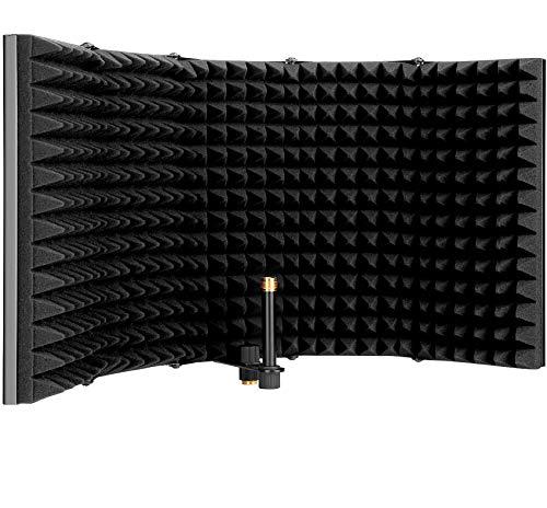 HEXIN Filtro Anti-pop de Escudo aislamiento micrófono,Plegable...