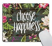 面白い引用ゲーミング快適滑り止めマウスパッドカスタム、カオスコーディネーター引用ヴィンテージ色の花の花輪印刷素朴な古い木製アート快適滑り止めマウスパッド