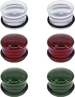 4 g-5/8 in vetro svasato singolo orecchio Gauges rosso fungo flare tappi tunnel barella espandibile vetro Ear Plug per le ...