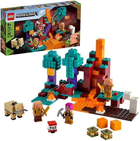 LEGO Minecraft The Warped Forest 21168 Hands on Minecraft Nether Creative Playset Fun Warped product image