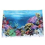 popetpop adesivo per acquario con sfondo adesivo, in carta da parati a doppio lato, poster subacqueo, decorazione di immagini per acquario, 42 x 30 cm