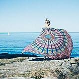 Ebeta Toallas de Playa, Indian Mandala Beach Towel, Kimono Túnica, Toalla de Playa de Gasa 148 x 210 cm (Rojo)