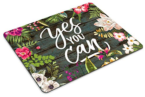 Smooffly Gaming Mouse Pad Custom,Yes You can Motivational Quote Mouse Pad Inspirational Quotes Mousepad Photo #5