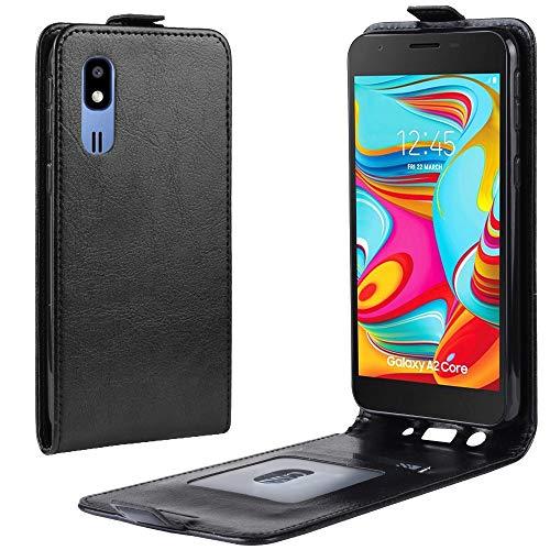 XYAL0002001 Xingyue Aile hoezen & hoezen voor Samsung Galaxy A2 Core, R64 Textuur Verticaal Flip Leather Hoesje met kaartsleuven & fotolijst voor Samsung Galaxy A2 Core, Zwart