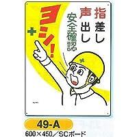 つくし工房 安全マンガ標識 危険予知標識 安全確認 指差し 声出し 49-A 600×450