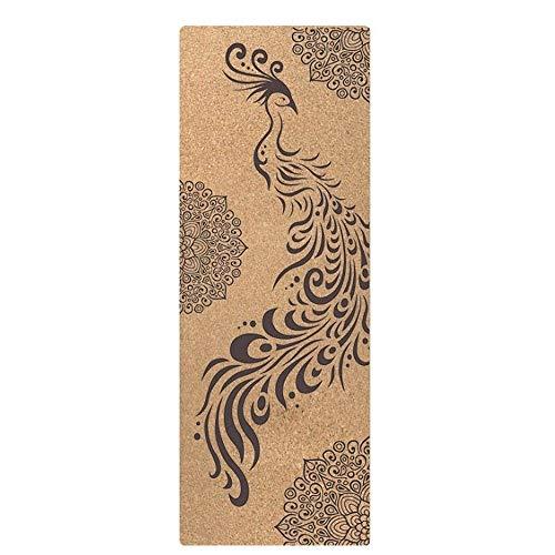 KOXG-S Alfombra de Yoga Caucho Natural Cork Yoga Mat Protección Ambiental Body Line Estera De La Aptitud De Doble Cara Húmedos Y Secos Antideslizante Esteras