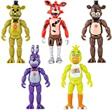 5 Pcs Five Nights at Freddys Action Figures Set Christmas Decoration Cake Topper 6 inch Character Model Toy