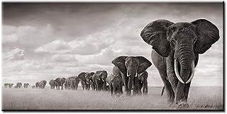 Shiyking negro África elefantes animales salvajes pinturacarteles e impresiones Cuadros cuadros de arte de pared para s...