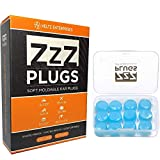 ZZZ-Plugs Silicone Earplugs - 6 Pair Value - Moldable Silicone Ear Plugs for Sleeping, Swimming,...