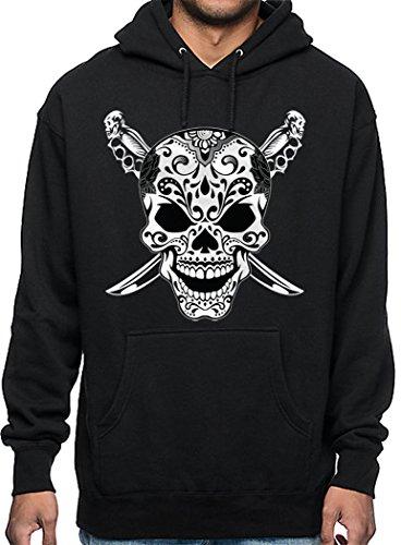 CaliDesign Men's Sugar skull Hoodie Aztec Mexico Warrior Joker Sweatshirt, 5X - 5XL - XXXXXL