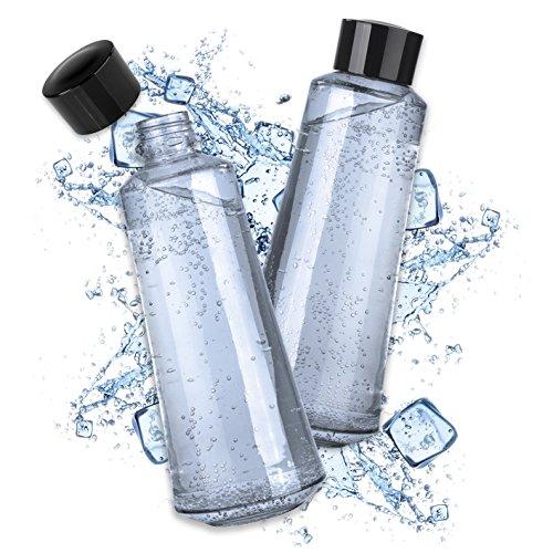 Soda Trend 07782 Glasflaschenersatz 2er-Set 720ml | Für Soda Trend Wassersprudler Deluxe | Zusatzflaschen