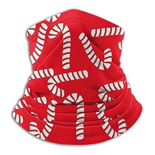 HleHjum Caramelo de Navidad bastón de dulces polaina para el cuello de la polaina de la cara de los deportes transpirable de la cara del viento frío reutilizable bandana hombres mujeres camuflaje