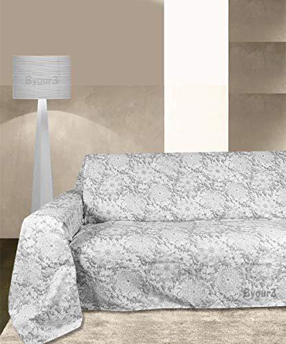 Byour3 - Funda de sofá - Motivo Navideño - Funda de sofá para 3, 4 y 5 plazas - Confeccionada en algodón ideal para sofá, sofá con chaise longue derecho/izquierdo