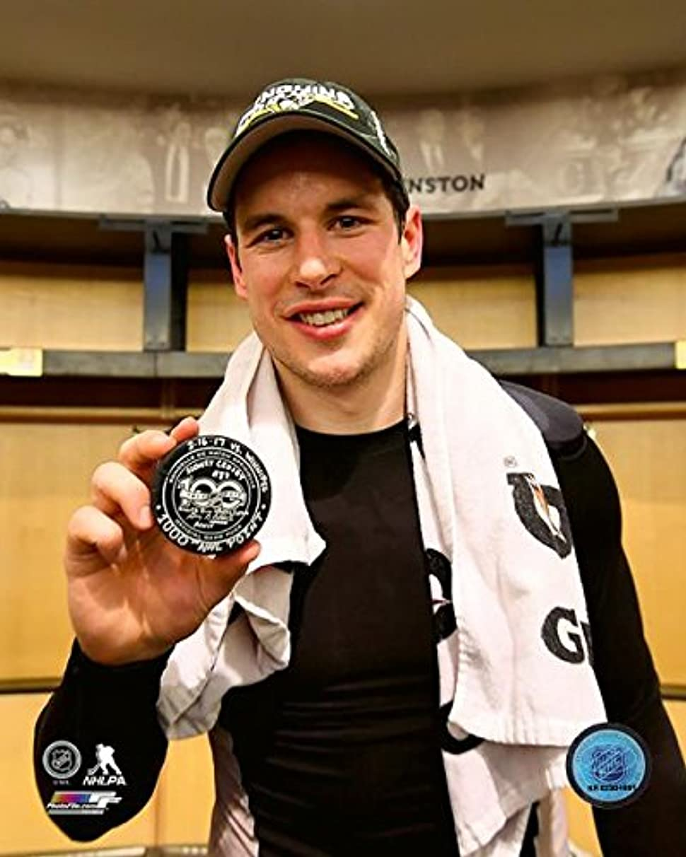 Sidney Crosby Pittsburgh Penguins 1,000th Career NHL Point Photo (Size: 8