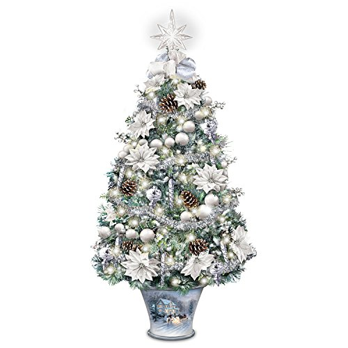 Thomas Kinkade Winter Splendor Tabletop Tree from Bradford Exchange: Lights Up