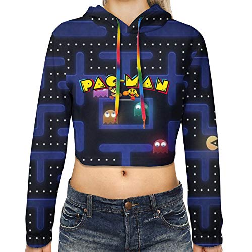 Pac-Man Cropped Hoodie for Women