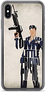 iPhone X/XS Case Anti-Scratch Motion Picture Transparent Cases Cover Tony Montana Typographic & Minimalist Illustration Movies Video Film Crystal Clear