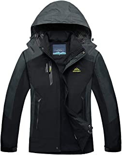 TACVASEN Men's Outdoor Sports Hooded Windproof Thin Jacket Waterproof Rain Coat