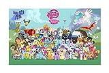 JAZC Puzzle 1000 Piezas Puzzle Rompecabezas Juguetes De Dibujos Animados Rompecabezas De Madera My Little Pony For Adultos Chidrens Regalos 300/500/1000/1500 Pieces (Size : 500P)