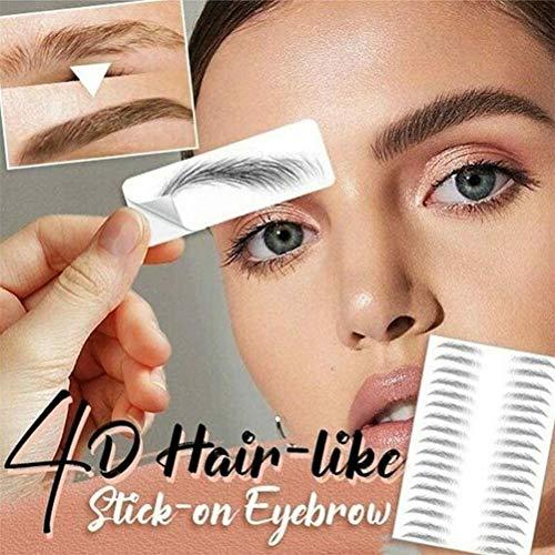 FFOMG 4D Hair-Like Authentic Eyebrows, Maquillaje para Cejas y Maquillaje, imitación Impecable, Tatuaje Natural Perezoso ecológico, Pegatinas de Cejas biónicas a Prueba de Agua (E12, Paquete de 2)