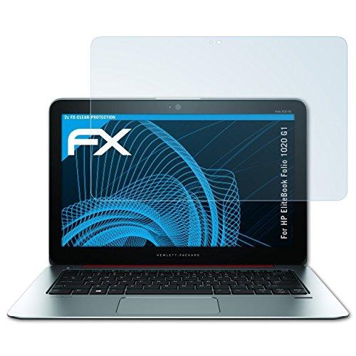 atFolix Schutzfolie kompatibel mit HP EliteBook Folio 1020 G1 Folie, ultraklare FX Bildschirmschutzfolie (2X)