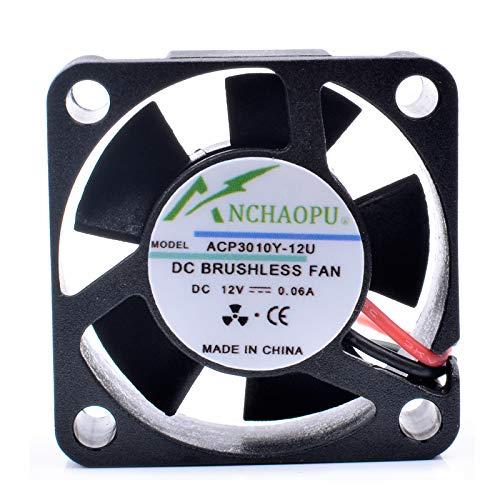 Cooling Fan ANCHAOPU ACP3010Y-12U,3cm 3010 DC12V 0.06A,router micro cooler fan
