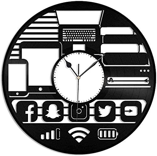 hhhjjj Gadget Freak Orologio da Parete in Vinile Record Design Unico Decorazione per la casa e la Scuola Materna Design retrò Ufficio Bar Camera Decorazione della casa