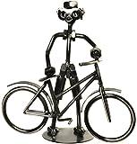 Deko Fahrrad Fahrradfahrer Schraubenmännchen Fahrrad aus Metall für Geldgeschenk Fahrrad oder als lustige Geschenkidee, kleines Geschenk für Radfahrer