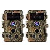 2pcs BlazeVideo Fotocamera de Caccia con audio 20MP 1080P, H,264 Video, Night Vision, 0,1s...