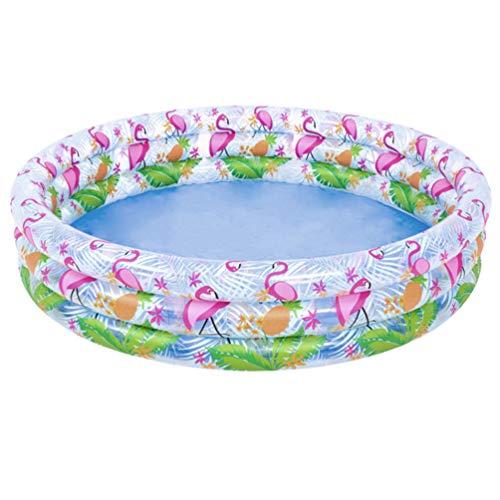LUOEM Piscina hinchable para niños, piscina redonda flamenco piscina para niños