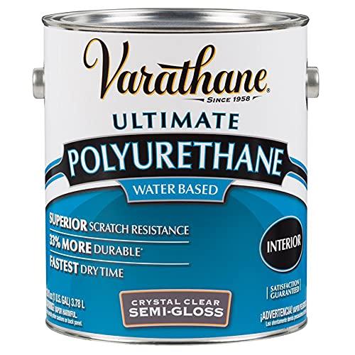 1 gal Rust-Oleum Brands 200131 Crystal Clear Varathane, Diamond Water-Based Interior Polyurethane, Semi-Gloss Pack of 1