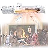 HIMABeauty Exterior Calentador, Patio Calefactor, protección contra Salpicaduras Calentador Fibra de Carbono 1 Segundo IP65, para Interior Invierno Aire Libre,Style 2