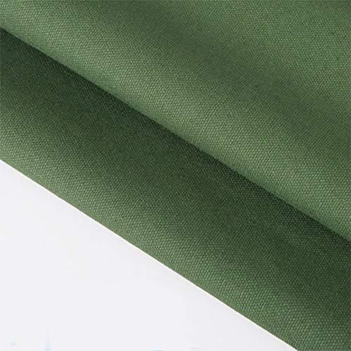 """ONECHANCE 100% tela de algodón Tela de lona gruesa Color sólido Mantel de cortina Material de bricolaje por metro 100x150cm (39""""x59"""") Color Verde Militar Size 2 metros"""