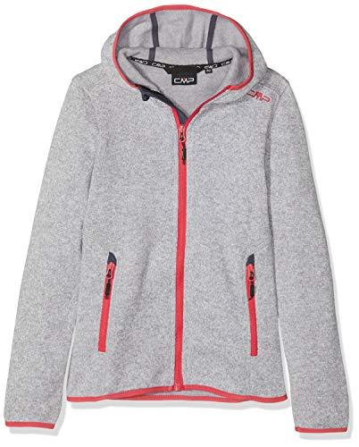 CMP Fleece Knit Tech 3H19825 Jacket Enfant, Argento/Bianco, Size 116