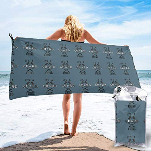 shenguang Its A Guard Thing Printed Travel Quick Dry Bath Towels Sports Gym Microfiber Beach Towels Camping Swimming Compact Towel