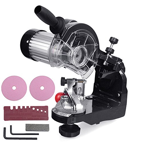 CO-Z Electric Chainsaw Sharpener Kit Chain Saw Blade Grinder - with 2 Grinding Wheels,...