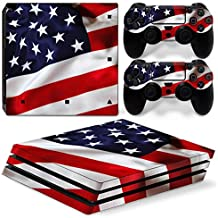 DAPANZ American Flag Skin Sticker Decal Full Cover for Sony Playstation 4 Pro Console and DualShock 4 Controller Skin