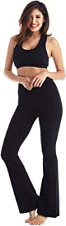 Viosi Flare Yoga Pants for Women with Foldover Waist - Premium 250gsm Cotton Spandex