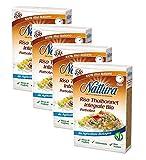 Nattura for Your Daily Wellness Arroz Thaibonnet de grano entero orgánico listo en 8 minutos rico en fósforo - 4 x 400 gramos