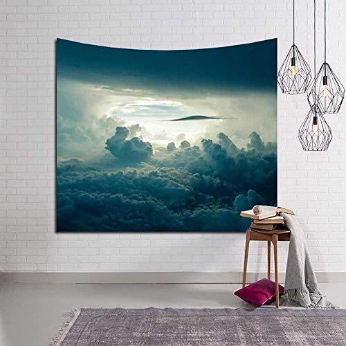 WERT Cielo Nocturno Luna Tapiz Natural Colgante de Pared decoración Planta impresión decoración Tapiz de Suelo A15 200x180cm